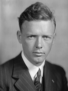Charles Lindbergh, photo by Harris & Ewing. Source: Wikipedia. Click to enlarge.