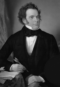 Oil painting of Franz Schubert by Wilhelm August Rieder (1875). Source: Wikipedia.