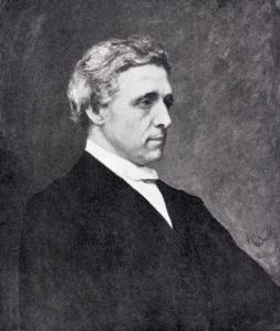 A posthumous portrait of Lewis Carroll by Hubert von Herkomer, based on photographs. This painting now hangs in the Great Hall of Christ Church, Oxford. Source Wikipedia. Click to enlarge.