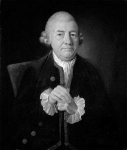 Baskerville in later life, oil on canvas by James Millar. Sorce: Wikipedia. Click to enlarge.