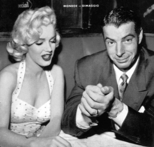 Monroe and Joe DiMaggio when they were married in January 1954. Source: Wikipedia. Click to enlarge.