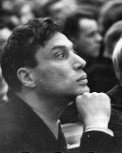 Pasternak at the first Congress of the Union of Soviet Writers in 1934. Source: Wikipedia. Click to enlargte.