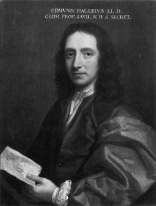 Edmund Halley. Source: Wikipedia. Click to enlarge.