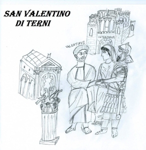 Saint Valentine during the wedding of roman centurion. Source: Wikipedia (CC BY-SA 4.0). Click to enlarge.