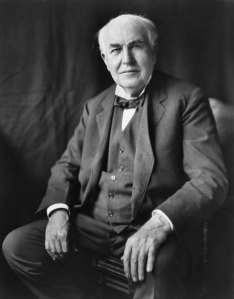 Thomas Alva Edison. Source: Wikipedia. Click to enlarge.
