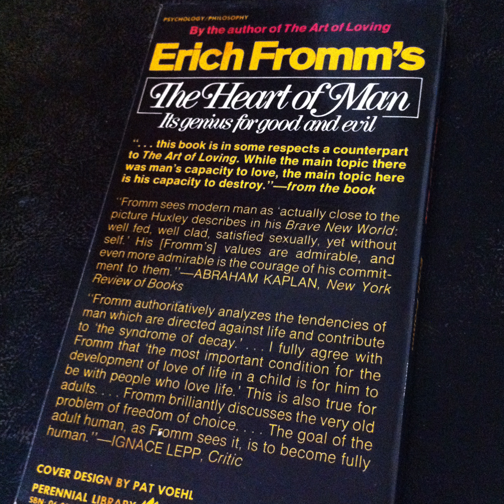 the art of loving erich fromm essay Erich fromm's the art of loving upon reading erich fromm's the art of loving, i gained a better understanding of what love really is fromm's book puts love into perspective he begins with several facts with regards to the attitude in which people treat love they are the problems of how to.