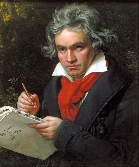 Portrait of Ludwig van Beethoven when composing the Missa Solemnis, Joseph Karl Stieler (1781–1858), 1820